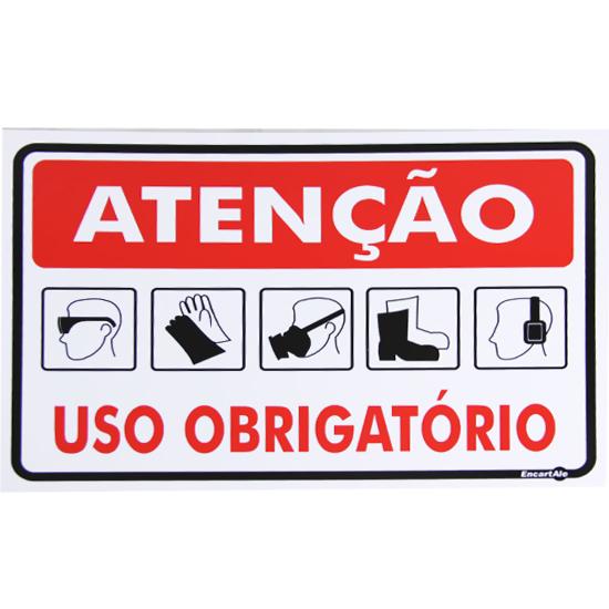 59e6da9a3272f Placa Sinalização Atenção Uso Obrigatório EPI´S - 4208